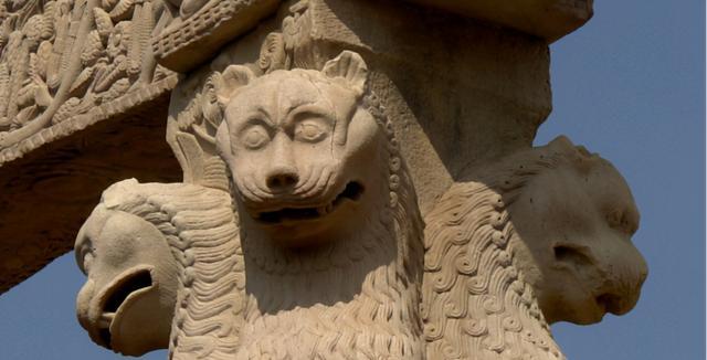 阿育王柱上常见的狮子装饰