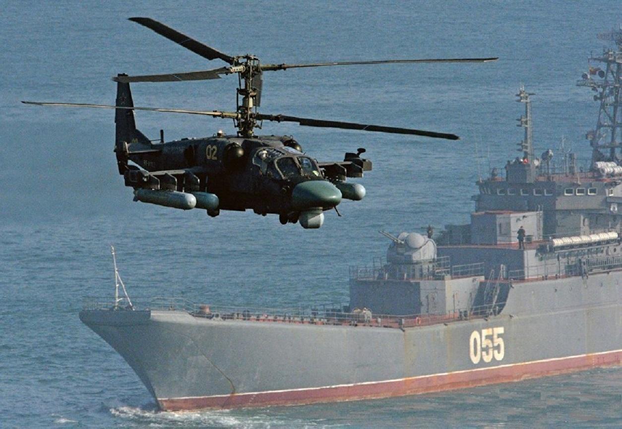卡-52K直升机可携带多种武器,火力强悍。