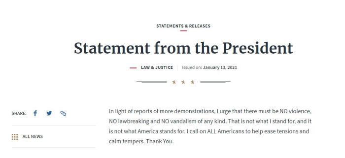 【网币】_二度遭弹劾后特朗普发声了,他能赦免自己吗?