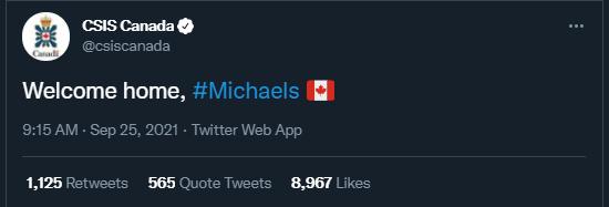 加拿大安全情报局(CSIS Canada)推特截图