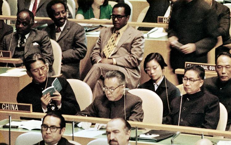 1971年11月15日,美国纽约,中国代表团正式出席第二十六届联合国大会。(图源:人民视觉)_副本.jpg