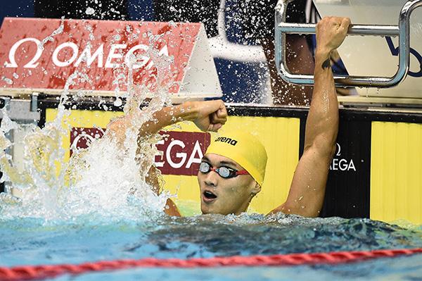 国际泳联短池世界杯东京站,徐嘉余破男子100米仰泳世界纪录。