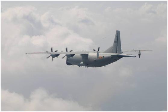 解放军军机示意图。图自台湾防务部门官网