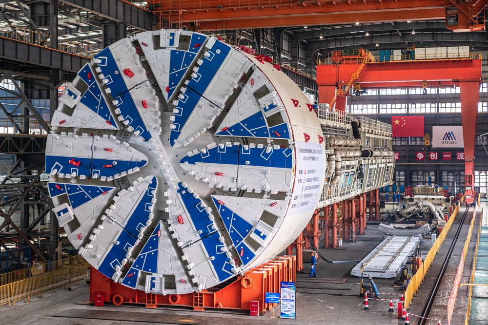 盾构机推拼同步技术在上海试验成功。  本文图片隧道股份提供