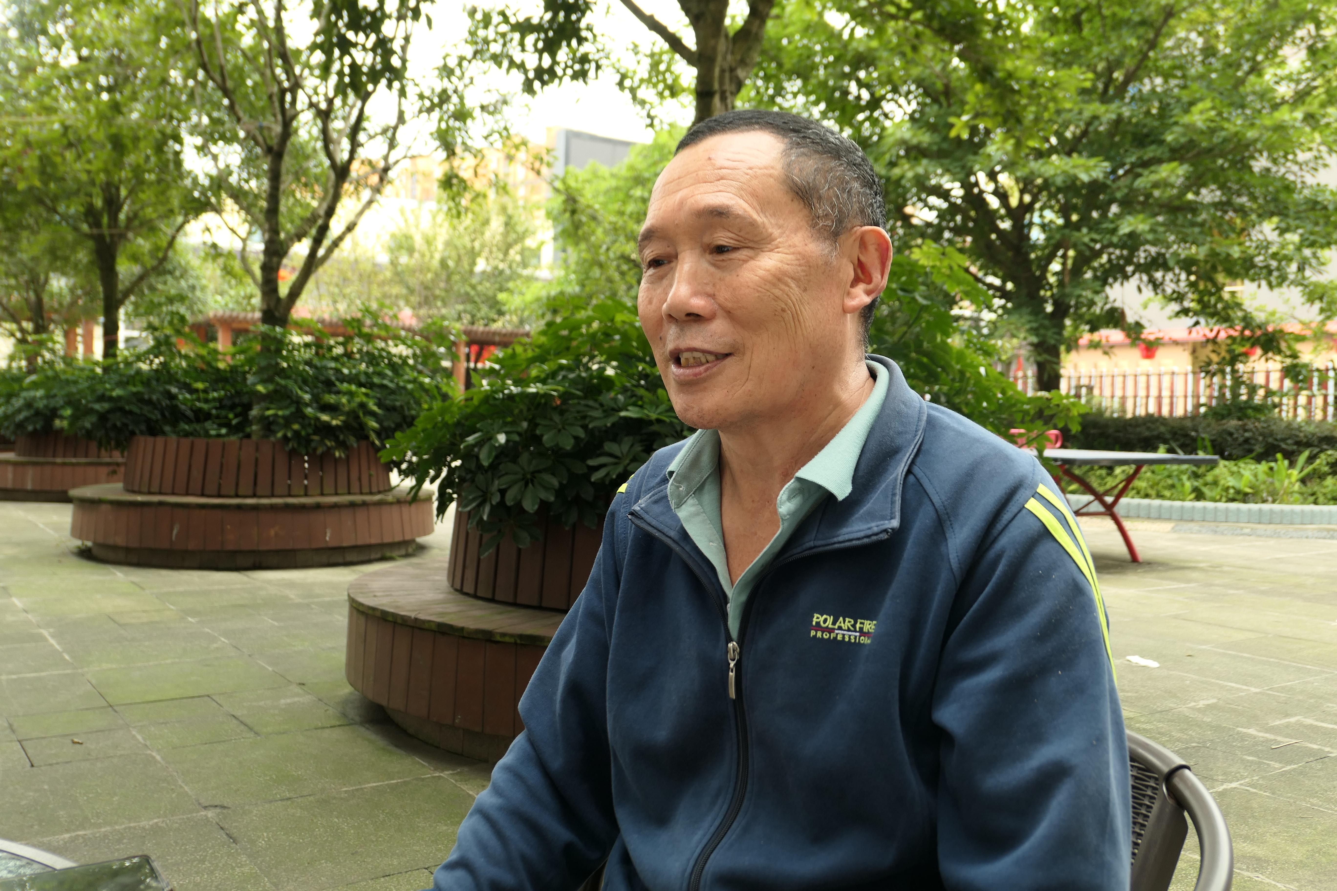 10月5日,董云富在养老院。新京报记者 徐杨 摄