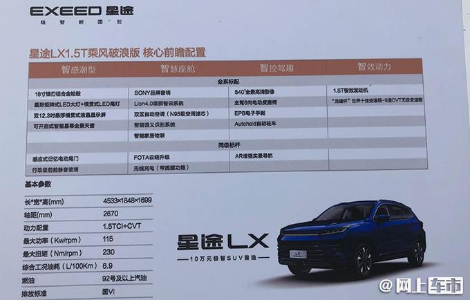 星途LX中文命名追风 将推新款车型 配置大升级-图6