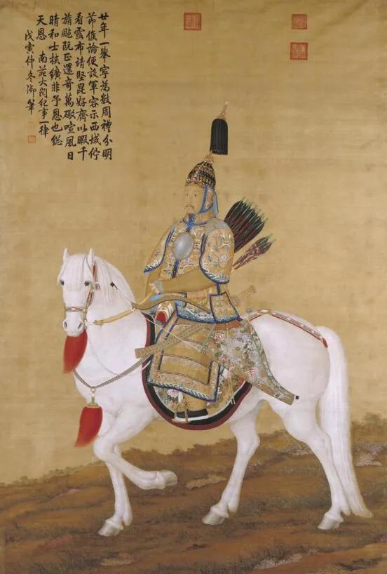 上图_ 郎世宁所画乾隆皇帝大阅图(局部)