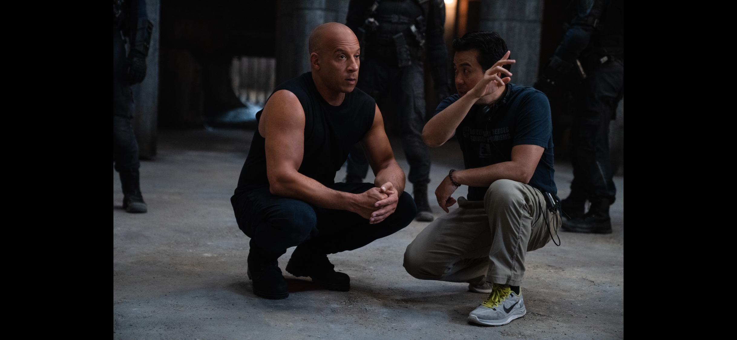 导演林诣彬和范·迪塞尔。