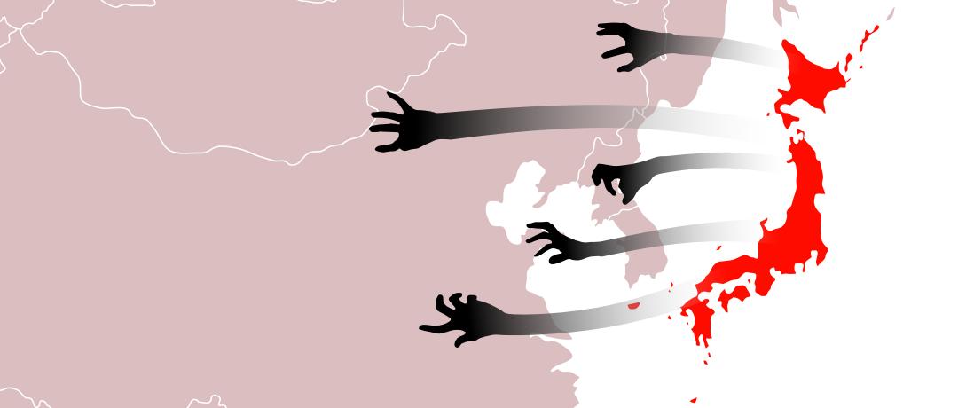 ▲ 日本从未放弃将黑手伸向东亚大陆 (漫画 | Yutao)