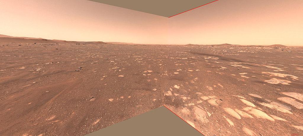 """NASA 公布火星探测器""""毅力号""""传回的火星画面"""