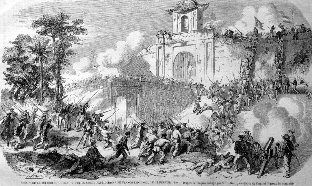 ▲1859年法军围困越南西贡