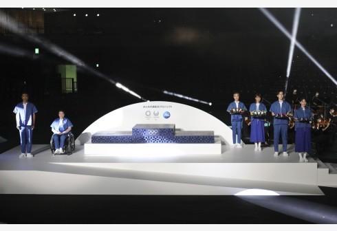 东京奥组委在东京有明体育馆举行仪式