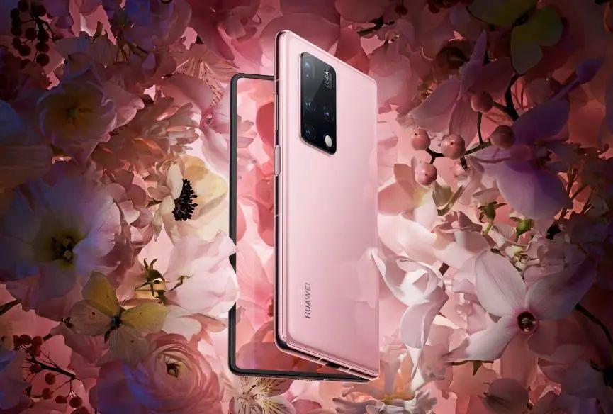 华为折叠屏手机:Mate_X2折叠屏上线冰晶粉配色:靓女必备!