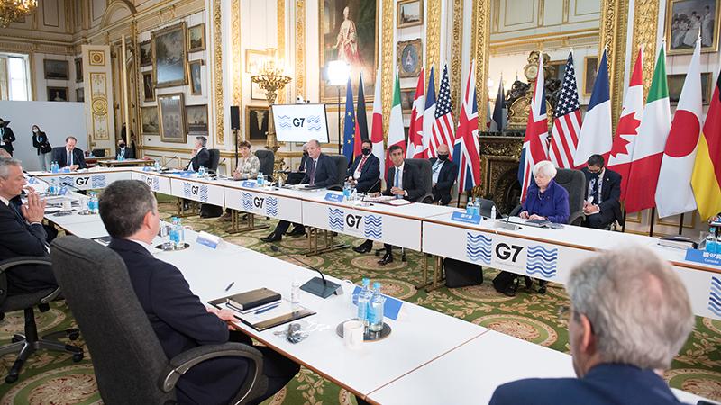 由加拿大、法国、德国、意大利、日本、英国和美国组成的G7一致同意美国的提案,即要求全球企业至少缴纳15%的收益税。