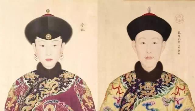 乾隆及妃子画像