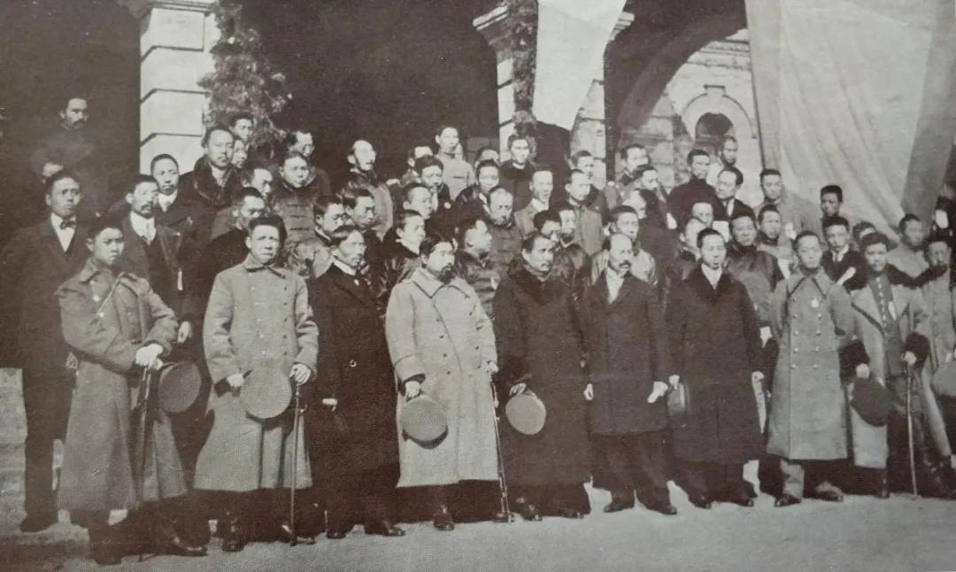 ▲1912年1月,中华民国临时参议院在南京成立。