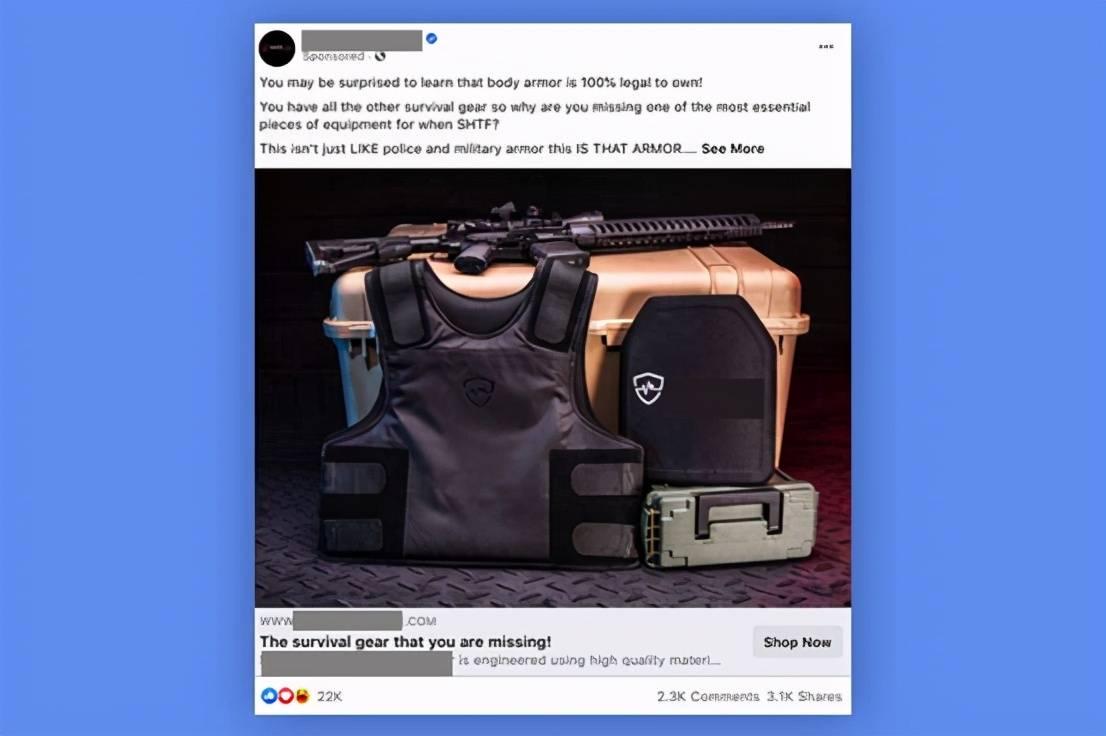 "【cf防踢】_美NGO""钓鱼执法"",发现Facebook曾给极右翼人士推送武器广告"