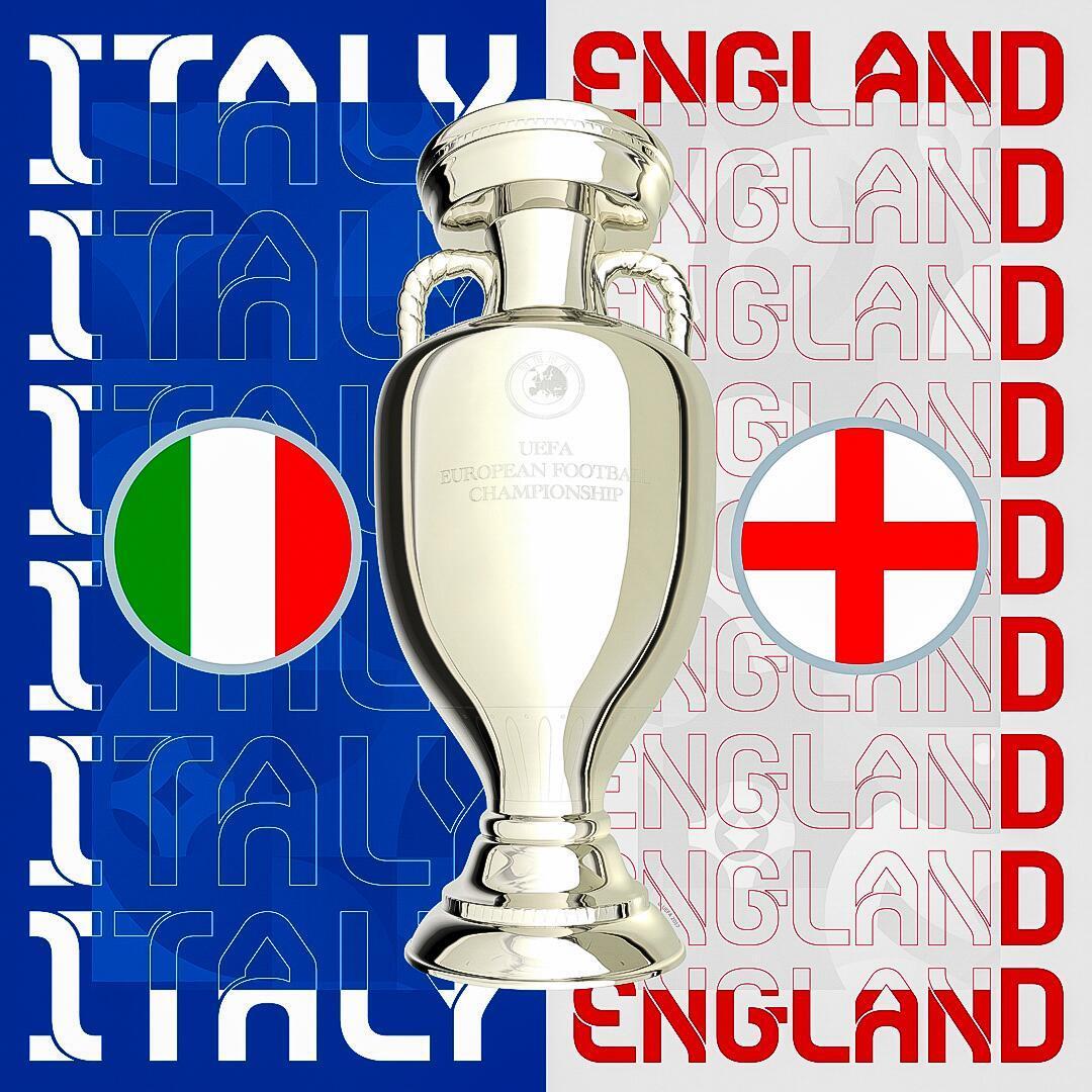 决赛,意大利VS英格兰。