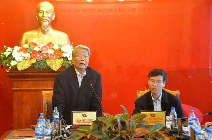▲越南前主席陈德良(左)