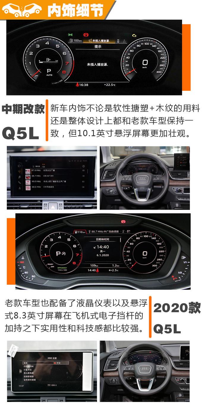 中期改款Q5L对比老款Q5L 新老同堂如何选择 -图10