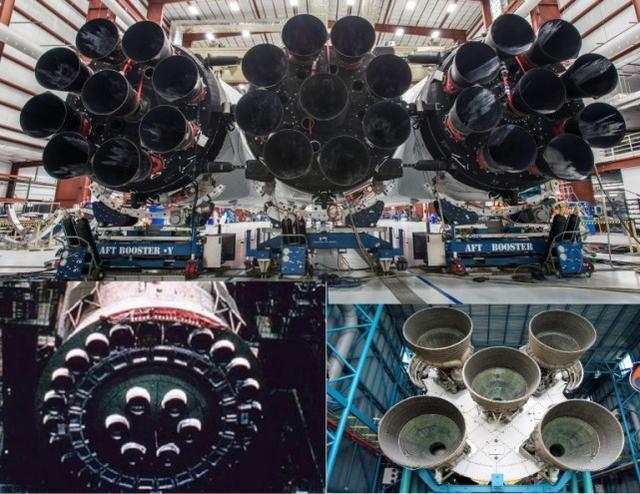 """""""重型猎鹰""""和苏联N-1以及土星五号对比"""