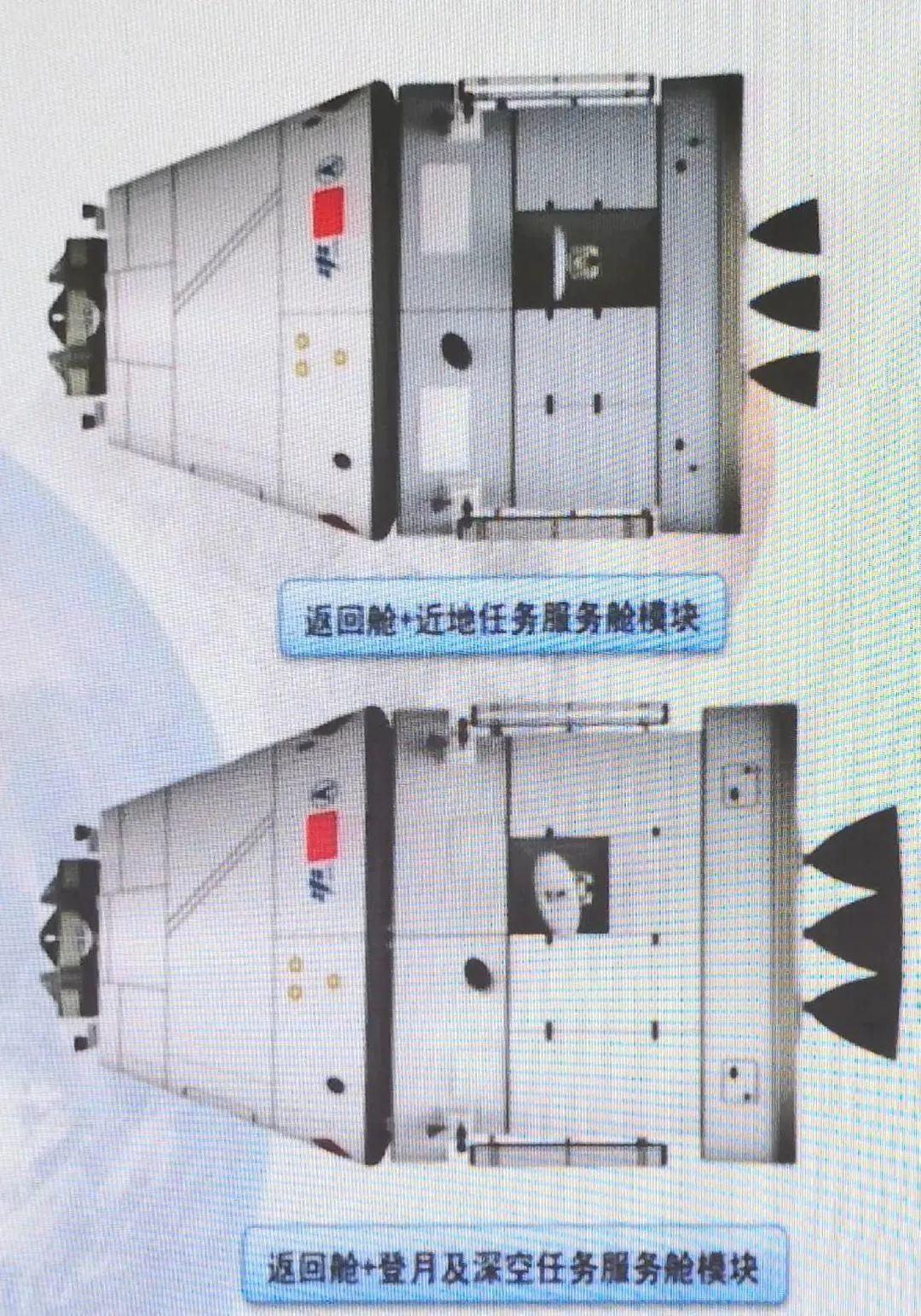 新一代载人飞船的两种构型