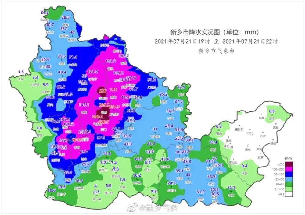 新乡2小时降雨量超过郑州 超历史记录
