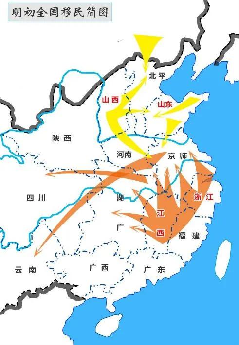 上图_ 明初全国移民简图