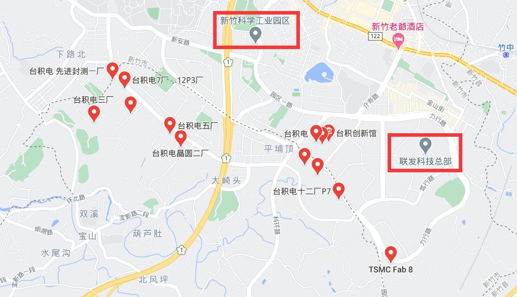新竹市内的台积电工厂