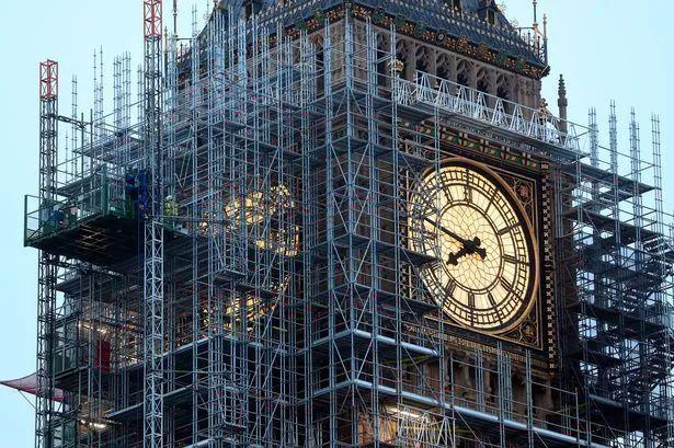 正在接受维修的大本钟