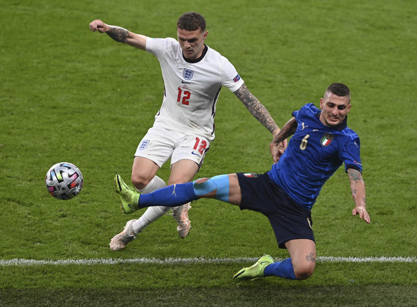 当地时间2021年7月11日,英国伦敦,2020欧洲杯决赛,意大利VS英格兰。