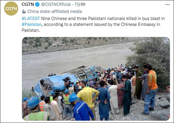 巴基斯坦当地政府正展开救援,图自CGTN