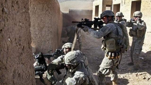 在阿富汗作战的美国士兵