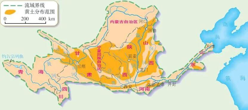 上图_ 黄河流域地图