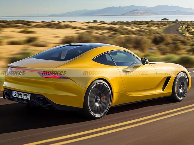 梅赛德斯-AMG将推全新跑车 2022年亮相/贯穿式尾灯-图1