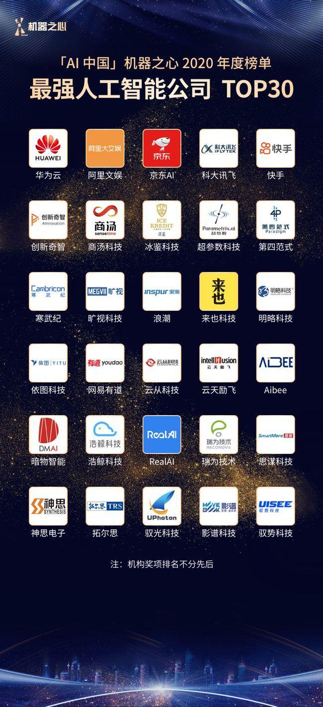 "AI顶尖大牛朱松纯麾下暗物智能荣膺""最强人工智能TOP30"""