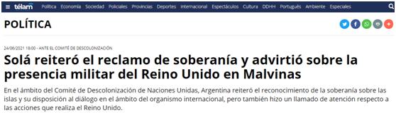 中方堅定支持阿根廷對馬島主權要求,阿外長表態