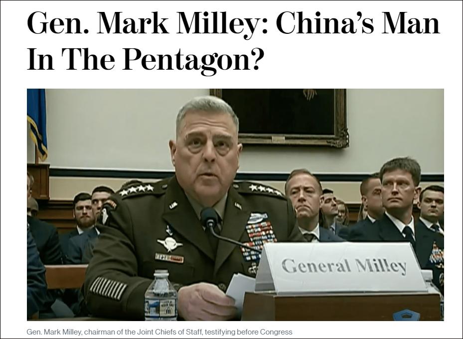 华盛顿邮报:美参谋长联席会议主席米利为防川普失控曾两次秘电中国军方