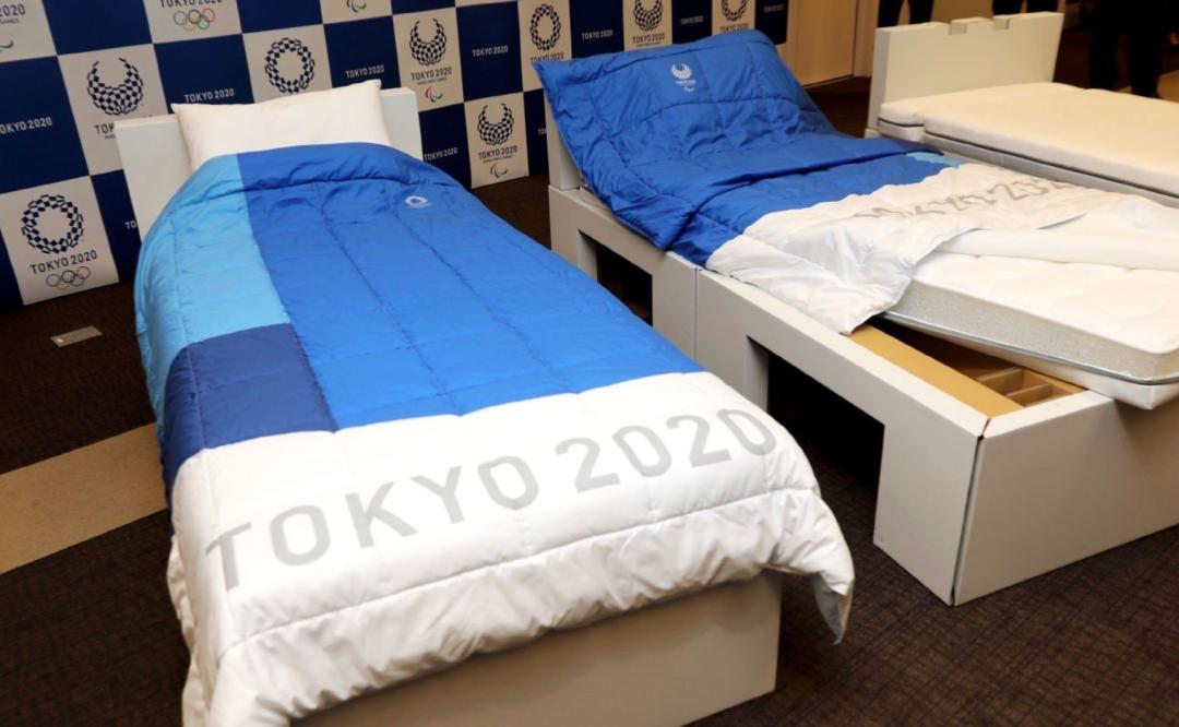 东京奥运村纸板床
