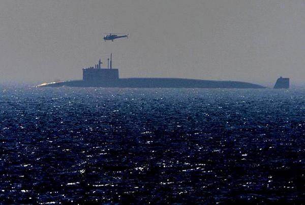 """""""歼敌者""""号弹道导弹核潜艇。"""