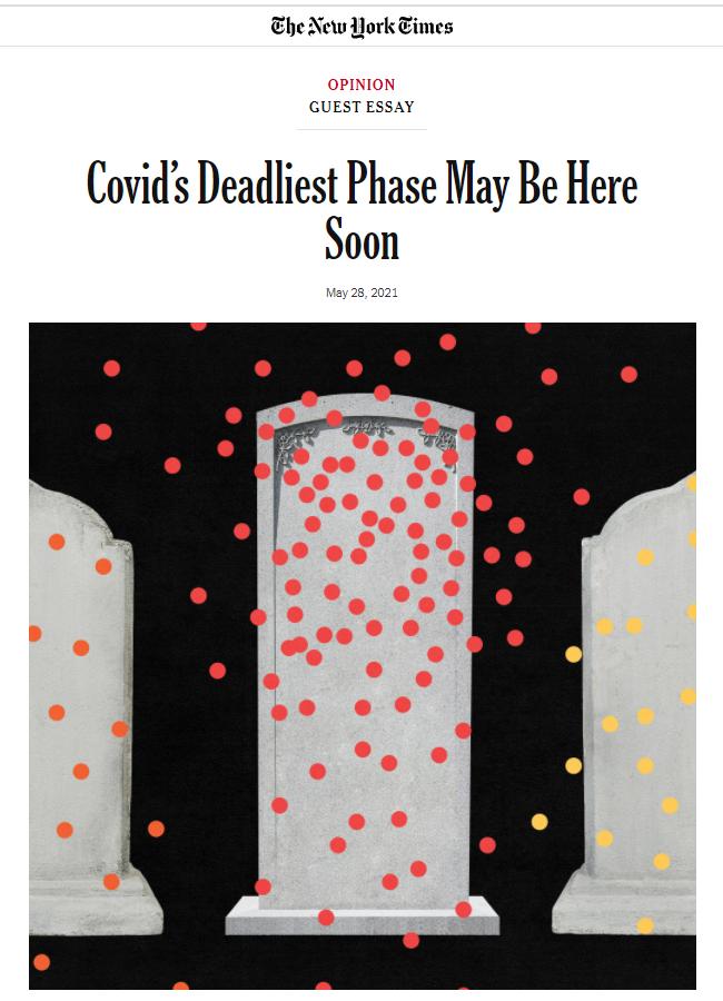 纽约时报:新冠最致命的阶段可能很快到来