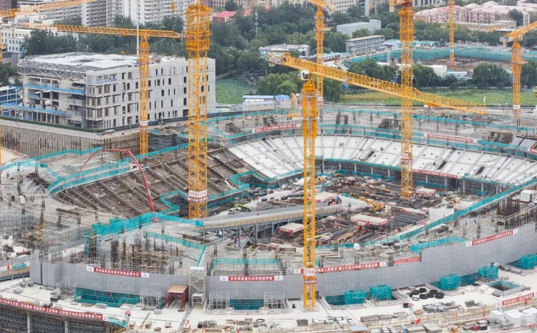 改造复建中的工人体育场