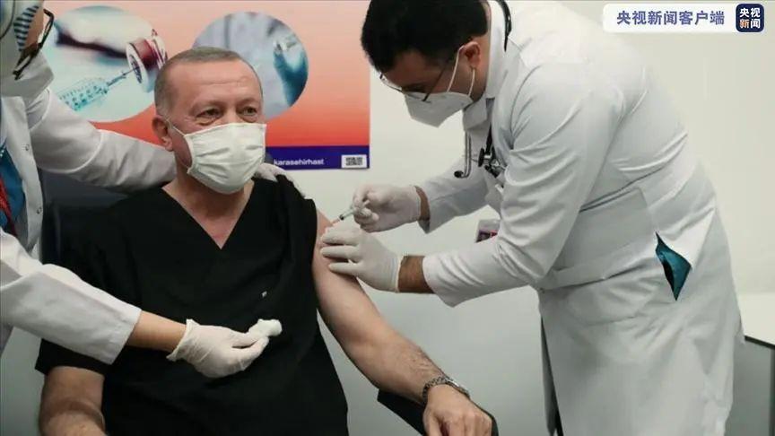 土耳其总统埃尔多安接种中国科兴疫苗 图自央视