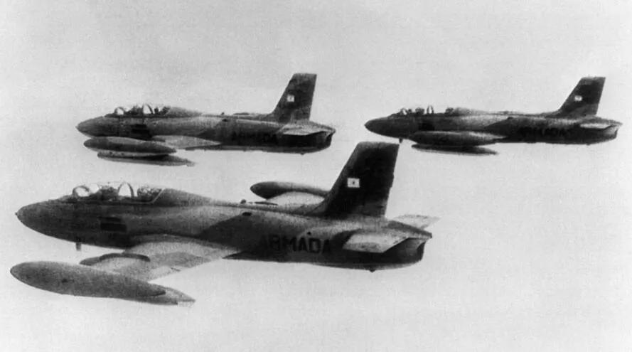 """上图_ 阿根廷""""Air Macchi""""歼击轰炸机"""