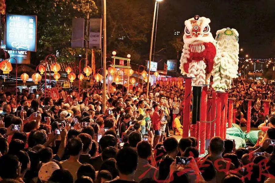 图   2020年马来西亚举办春节庆祝活动 苏明德疫情前接待的最后一波中国游客也参与其中