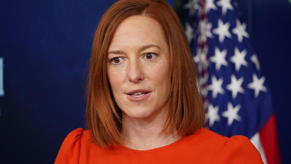 (图说:白宫新闻秘书帕萨基周四在白宫新闻简报厅。图/AP)