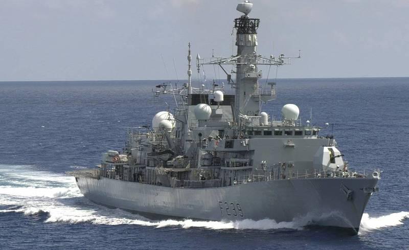 英护卫舰通过台湾海峡(图片来源:《自由时报》)