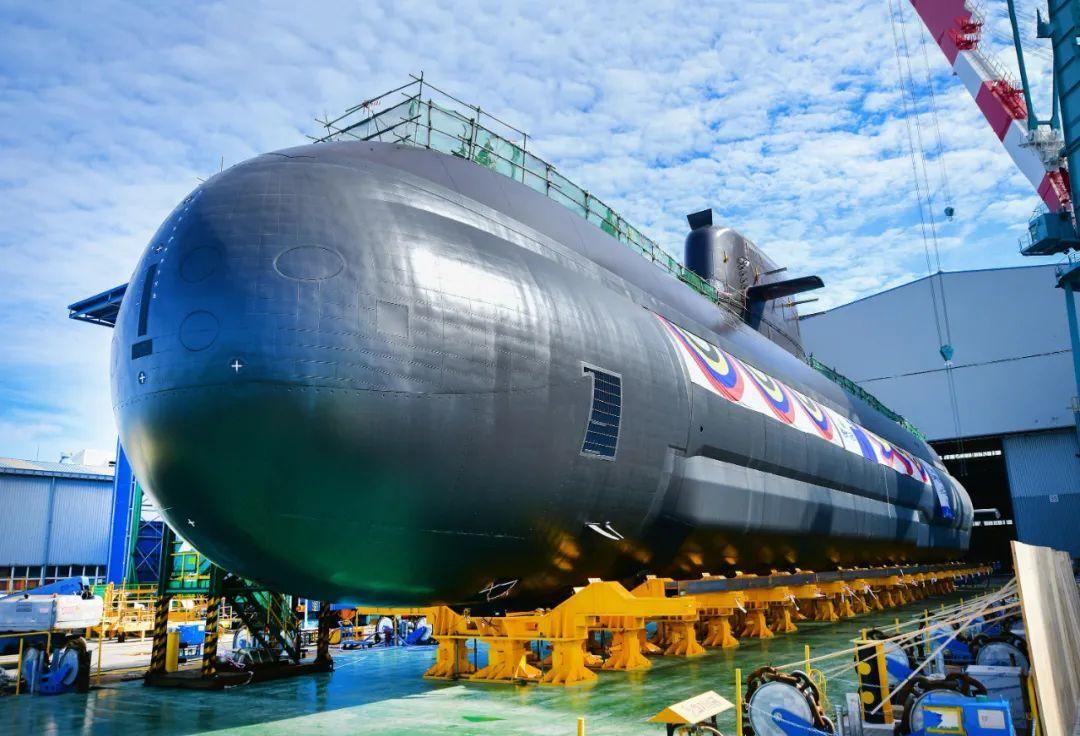 """资料图:韩国""""申采浩""""号潜艇。图/IC photo"""