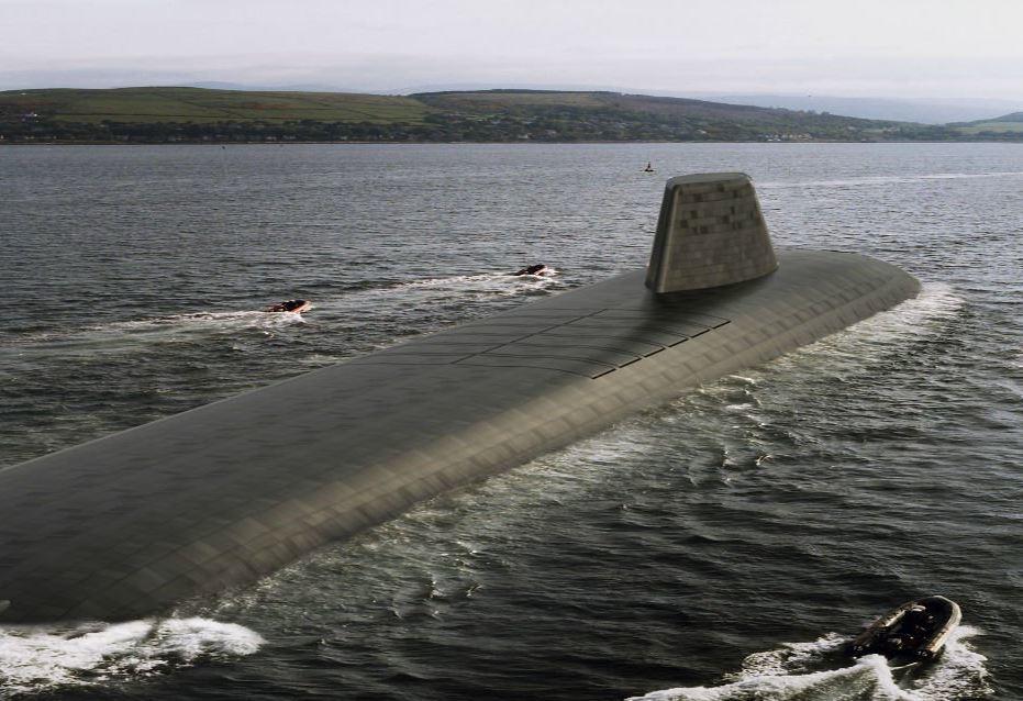 """英国""""无畏""""级战略核潜艇想象图"""