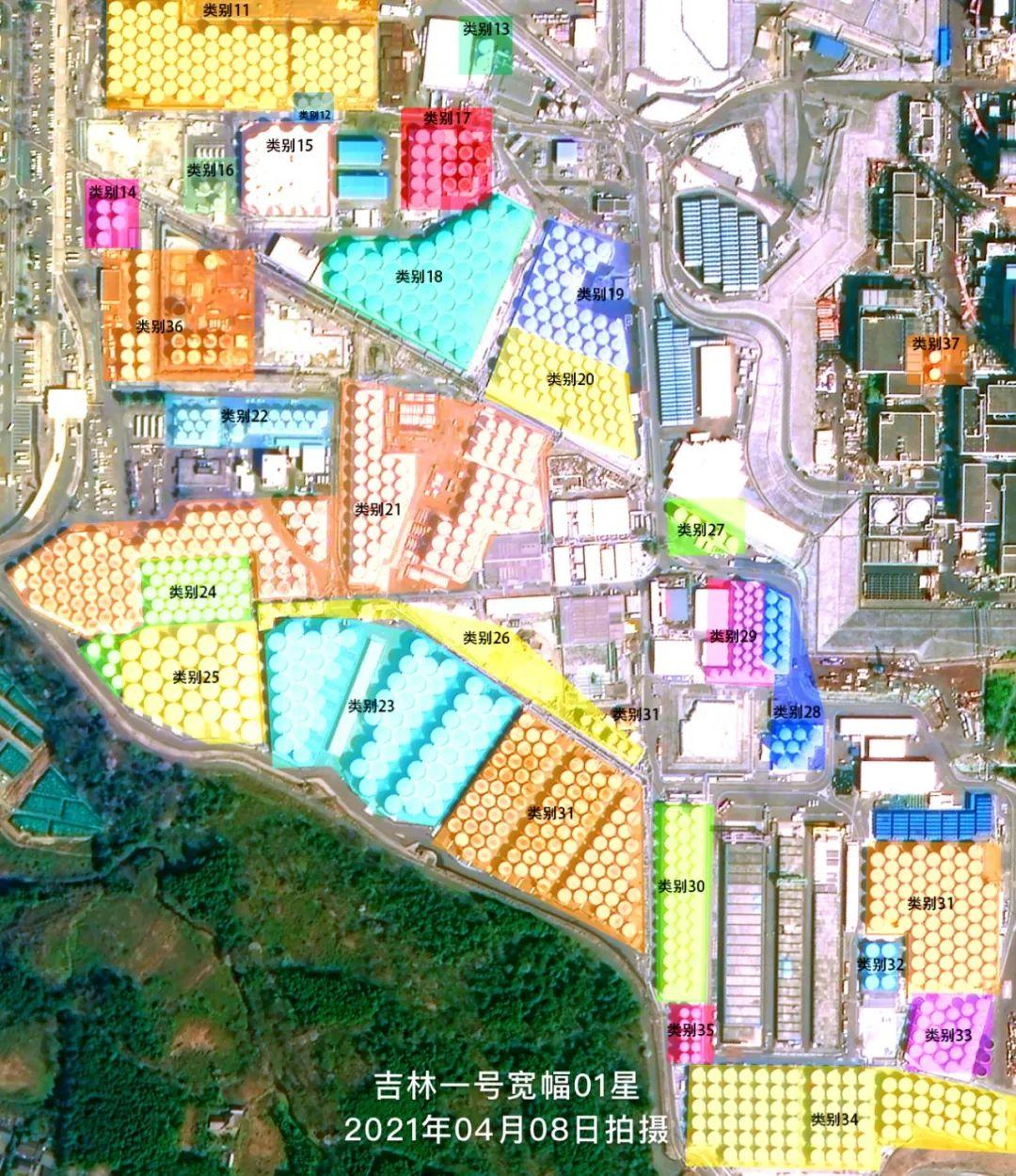 图:日本福岛第一核电站储存罐类别示意图